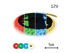 LED pásek 12V 5050  60LED/m IP67 max. 14.4W/m RGBW bílá teplá 5 m zalitý